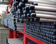 Huge inventory of threaded stainless steel pipe
