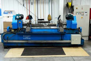 Our custom-built pipe threading center